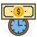 Business Time Deadline Time Is Money Icon