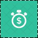 Money Is Time Alarm Alert Icon