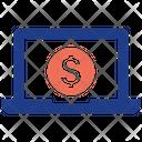 Money Laptop Icon