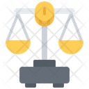 Money Scales Law Icon