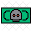 Skull Danger Money Skull Money Danger Money Icon