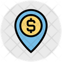 Money Location Bank Location Map Icon