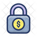 Money Lock Cash Safety Financial Security Icon