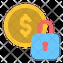 Money Lock Money Security Icon