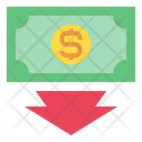 Money Down Arrow Currency Icon