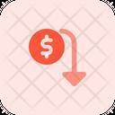 Dollar Falls Icon