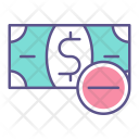 Minus Money Loss Icon