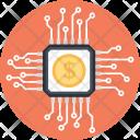 Digital Money Dollar Icon