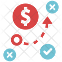 Money Making Strategy Finance Strategy Icon