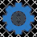 Dollar Setting Banking Icon