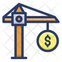Money Management Money Lifting Money Crane Icon