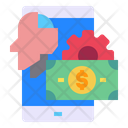 Mobile Screen Money Icon
