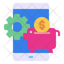 Mobile Gear Piggy Bank Icon