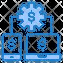 Money Management Management Gear Icon