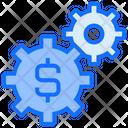 Money Management Dollar Cog Icon