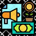 Money Marketing Growth Icon