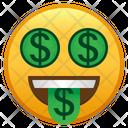 Money Mouth Face Emoji Emoticon Icon