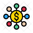 Dollar Connection Sharing Icon