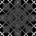 Dollar Connection Dollar Network Icon