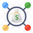 Money Network Business Network Financial Network Icon