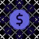 Money Network Finance Network Money Hierarchy Icon