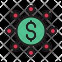 Money Network Dollar Money Icon