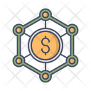 Money Structure Networking Icon