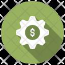 Setting Gear Dollar Icon