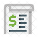 Money Order Document Roll Icon