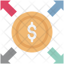 Dollar Arrows Direction Financial Concept Icon