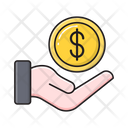 Pay Dollar Care Icon