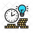 Gold Money Planning Earning Time Icon