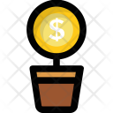 Business Plant Dollar Icon