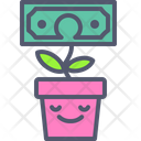 Flower Dollar Money Plant Dollar Icon