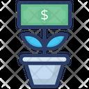 Money Plant Money Growth Business Development Icon