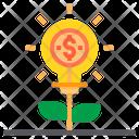 Idea Make Money Money Plant Creative Thinking Icon