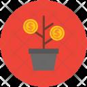 Money Plant Business Icon