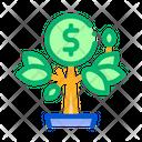 Money Tree Pot Icon