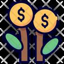 Plant Coin Dollar Icon