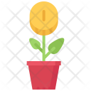 Sprout Flower Pot Icon
