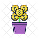 Plant Investment Flower Investment Icon
