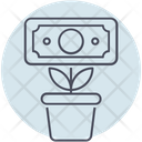 Business Money Plant Icon