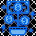 Money Coin Plant Icon