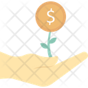 Money Plant Hands Launch Icon