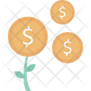 Money Plant Business Investment Icon