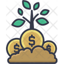 Money Plant Growing Natural Icon
