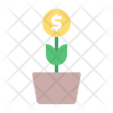 Money Plant Invest Coin Icon