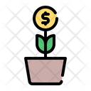Invest Bank Coin Icon
