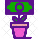 Plant Banking Economy Icon