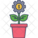 Plant Growth Business Icon